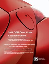 Cover of the OEM Color Code Locations guide