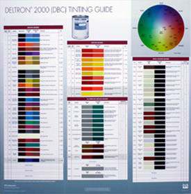Deltron 2000 (DBC) Tint Guide Poster