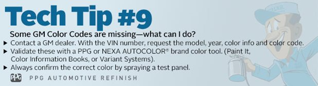 Gm Paint Codes >> Some Gm Color Codes Are Missing What Can I Do