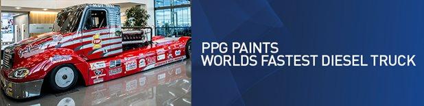 Fastest Stock Diesel Truck >> Ppg Paints World S Fastest Diesel Truck