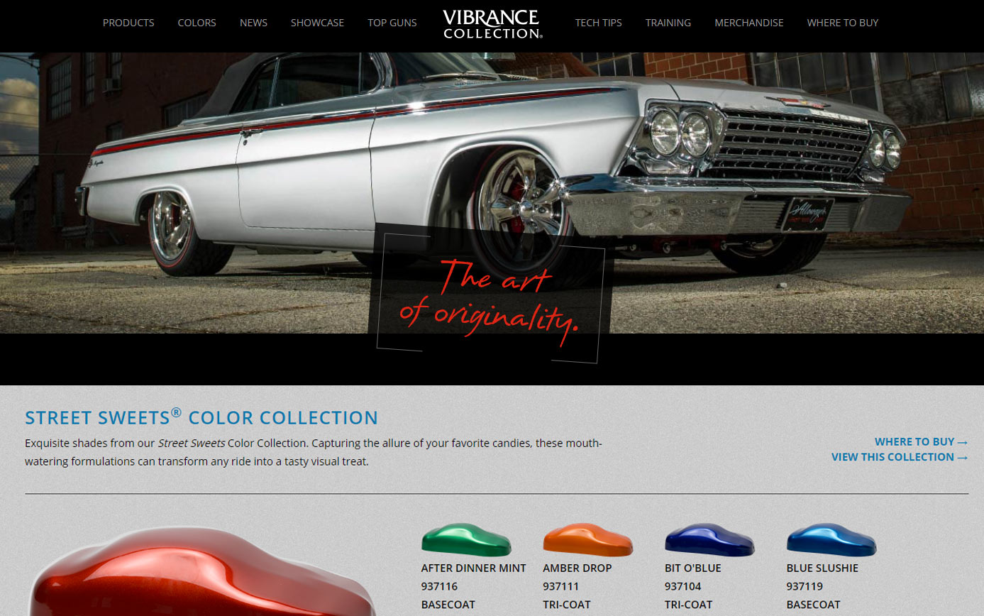 Vibrance Collection® Brand Website