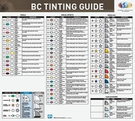Global Refinish System BC Tint Guide Poster (2 of 2)