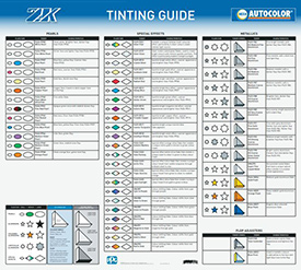 Delfleet Evolution Mixing Bases Tint Guide